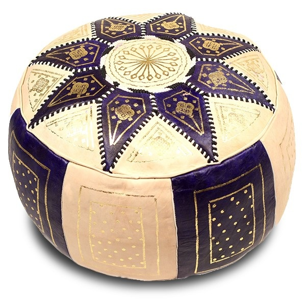 Blue Marrakech pouffe