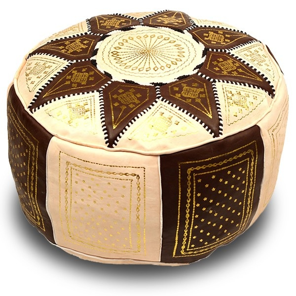 pouf marocain poufs marocains en cuir. Black Bedroom Furniture Sets. Home Design Ideas