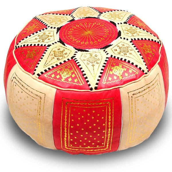 Red Marrakech pouffe