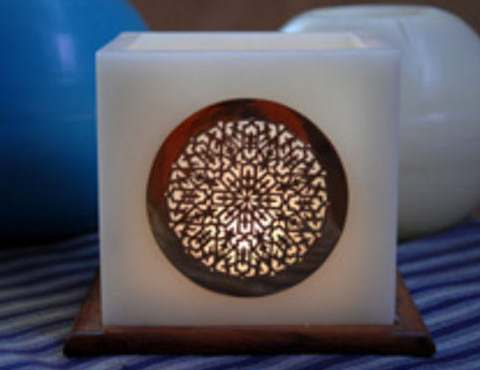Moroccan candle Arabesque