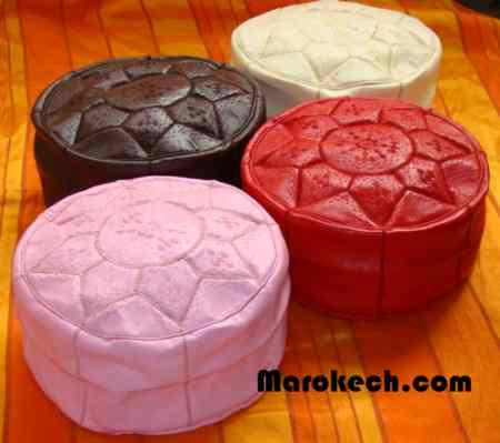 Lot de 4 poufs colorés
