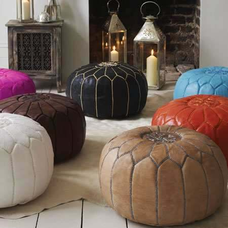 pouf deco maroc. Black Bedroom Furniture Sets. Home Design Ideas