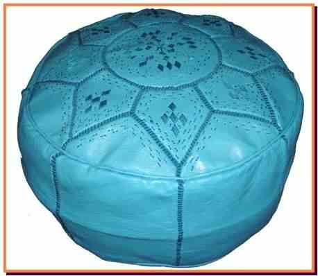 Blue design Pouf
