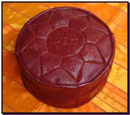 Pouf design marron