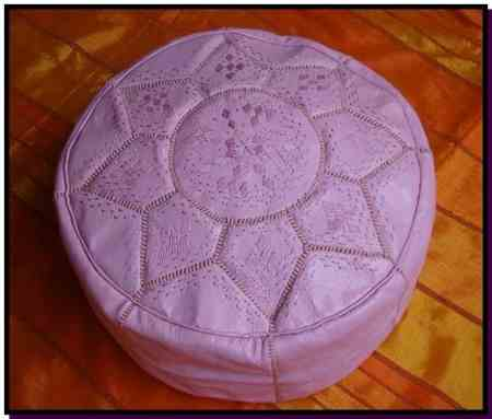 Pouf design rose