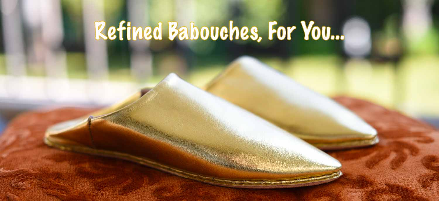 Refined babouche slippers